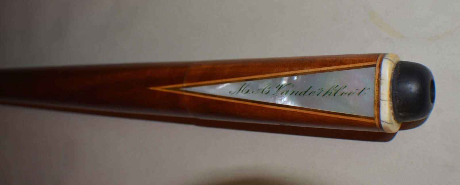Antique Brunswick Vandahloot Signed Pool Cue