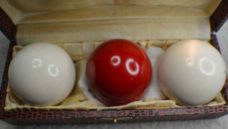 Antique High Grade Ivory Billiard Ball Set