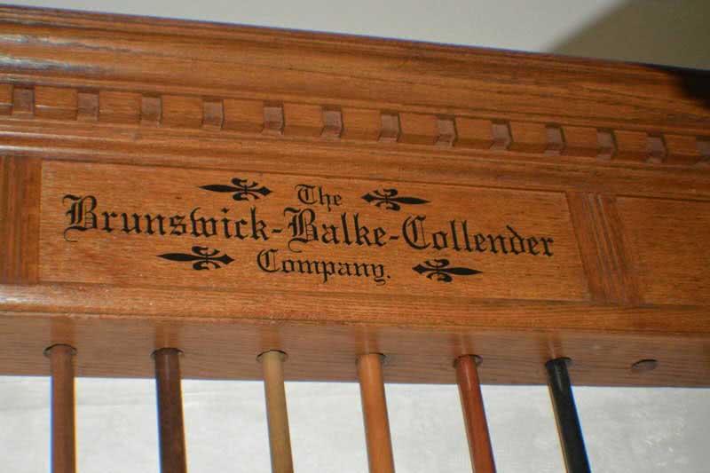 Antique Brunswick Combination Cue Rack - Ball Rack