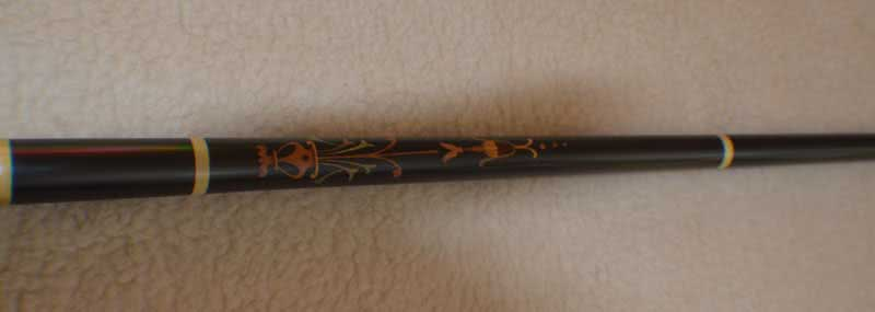 Antique European Ebony Marquetry Pool Cue