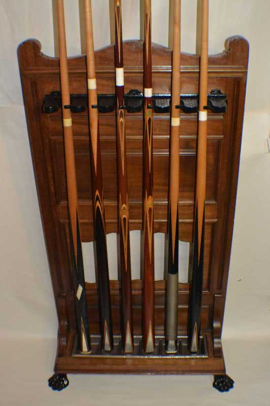 Antique European Free Standing Pool Cue Rack