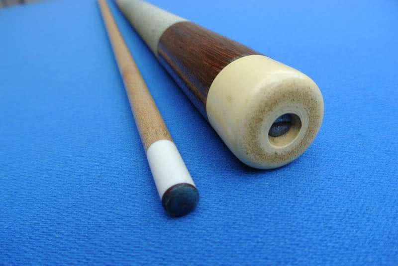 Antique Herman Rambow Signed Pool Cue