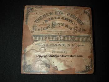 Antique Hyatt Bronze Pool Ball Box Printers Block
