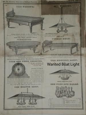Antique JM Brunswick Billiard Catalog 1870s