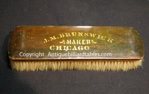 Antique J. M. Brunswick Chicago Billiard Table Brush