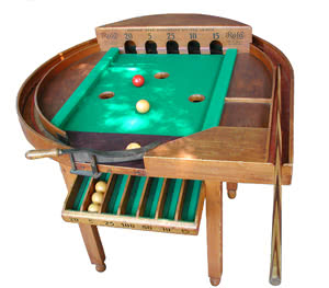 Antique Rola Billiard Game Table Pool Room