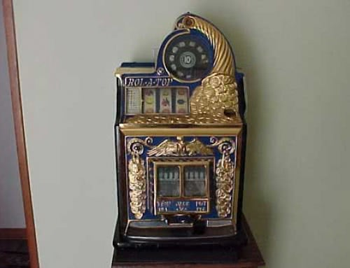Antique Watling Rol A Top Gold Plated Front Slot Machine