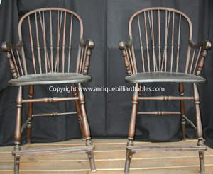 Antique Windsor Bentwood Billiard Chairs