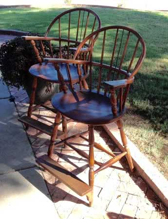 Antique Windsor Bow Back Bentwood Billiard Pool Room Chairs