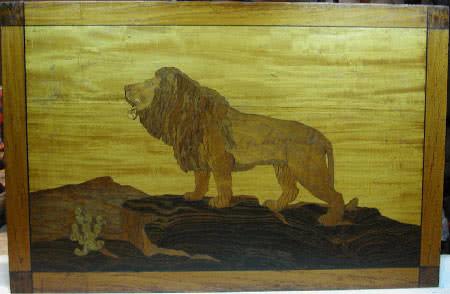 Antique BBC Lion Marquetr Brunswick Billiards