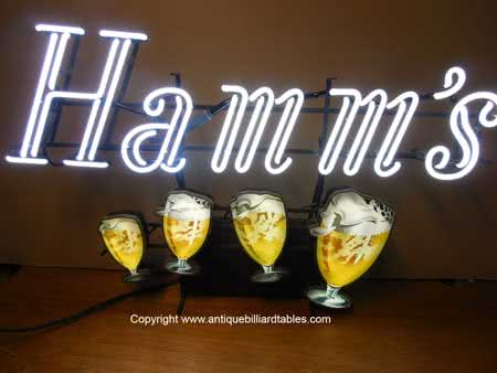 Collectible Hamms Beer Blinking Goblets Neon Sign