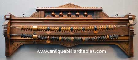Antique JM Brunswick & Balke Co East Lake Billiard Score Keeper